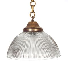 Brass Pendant Light | Foster Pendant with Glass Shade | Jim Lawrence