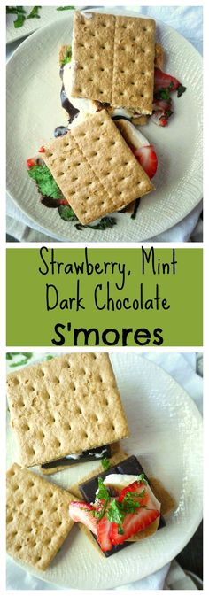 Summer fun isn't complete with out some roasted marshmallows and melted chocolate! Strawberry and mint take the campfire classic up a notch.