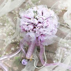 [AU$ 43.00] Simple And Elegant Round Satin Bridal Bouquets (124032066)