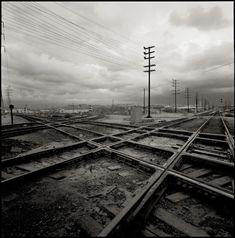 LA train tracks, 1968
