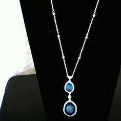 I just discovered this while shopping on Poshmark: Sparkling stone surrounded by CZs necklace. Check it out!  Size: OS