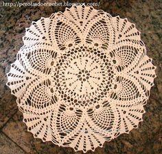 * Pérolas do Crochet: Toalha de Crochet ponto abacaxi - Crochet tablecloth -