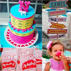 with a circus theme for her youngest daughter Nadias first birthday ...
