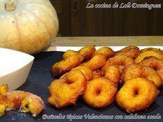 La cocina de Loli Domínguez: Buñuelos típicos Valencianos con calabaza asada
