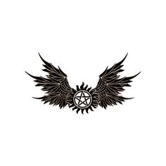 Archangel anti demonic possession charm tattoo by... ❤ liked on Polyvore featuring supernatural, tattoos, fillers, adxxx and draw
