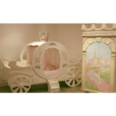 Princess Carriage Bed Adorned with Swarovski Crystals - Adorable Tots