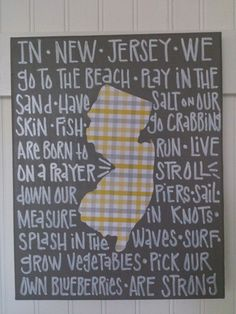 We Are Jersey Strong in Dark Gray and Yellow/Gray by zoegirlgifts, $48.00