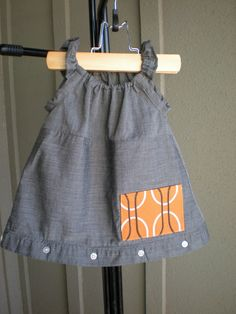 upcycled dress from men's shirt