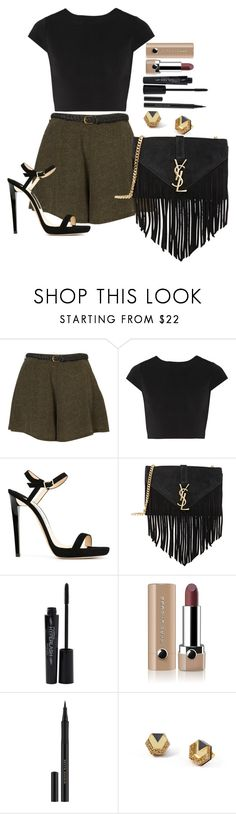 """""""Untitled #1396"""" by fabianarveloc ❤ liked on Polyvore featuring Alice + Olivia, Jimmy Choo, Yves Saint Laurent, Smashbox, Marc Jacobs, Kevyn Aucoin and Wolf & Moon"""