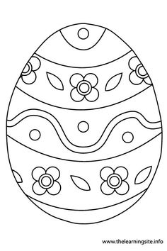 Easter Egg Flashcard 1 – The Learning Site Easter Art, Hoppy Easter, Easter Crafts For Kids, Easter Egg Coloring Pages, Colouring Pages, Easter Egg Designs, Easter Printables, Easter Colors, Creations