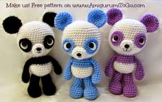 Oso Panda Amigurumi Patron Gratis : Pin by tami garcia on knit crochet patterns pinterest free