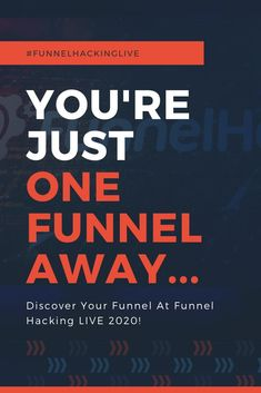 You're Just One Funnel Away.Funnel Hacking LIVE 2020 January 29 - February 2020 In Nashville, Tennessee Join Russell Brunson, World-Class Speakers, And Funnel Hackers From Around The World! Sales And Marketing, Marketing Ideas, Internet Marketing, Online Marketing, Social Media Marketing, Digital Marketing, What To Sell, How To Make Money, Landing Pages That Convert