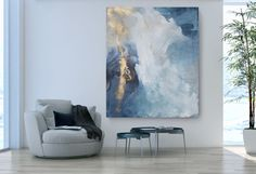 Ideas painting abstract art diy for 2019 Contemporary Abstract Art, Fine Art, Original Paintings, Art Paintings, Abstract Paintings, Blue Abstract Painting, Large Painting, Abstract Canvas, Painting Inspiration