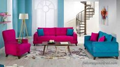 nice Pembe renkli koltuk takımı modelleri
