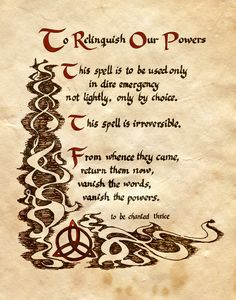 """To Relinquish Our Powers"" - Charmed - Book of Shadows"