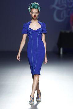 Vestido azul klein de la colección primavera/verano 2014 de Lady Cacahuete en el EGO Madrid Fashion Week