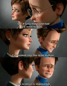 So funny Megamind actually thought that the world has a reset button and Roxanne thought he was joking Megamind (Disney) (Dreamworks) Disney Pixar, Disney And Dreamworks, Punk Disney, Disney Facts, Disney Memes, Dreamworks Movies, Dreamworks Animation, Animation Film, Disney Animation