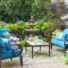 Create an open-air gather spot that is tailor made for entertaining.