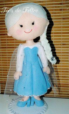 Elza, Frozen, feltro, bonecas