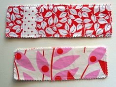 How to make fabric bookmarks ::