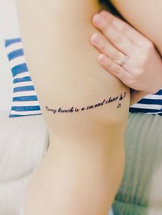 Every breath is a second chance. I love my tattoo thailand quote word meaning for woman cute