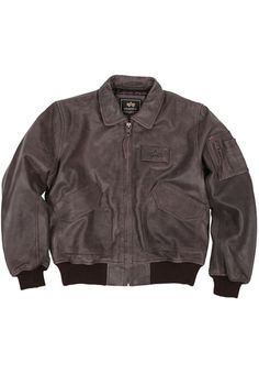 Alpha Brown 45-P Leather Jacket