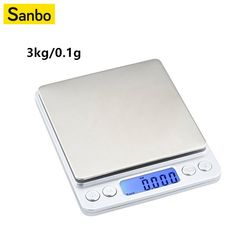 Precision LCD Digital Scales Mini Electronic Grams Weight Balance Scale for Tea Baking Weighing Scale Digital Pocket Scale, Digital Scale, Kitchen Measuring Tools, Big Tray, Postal Scale, Electronic Scale, Weight Scale, Display Screen, Consumer Electronics
