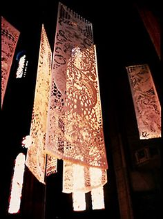 Nancy Chinn is a genius liturgical artist from Northern California. Her paper lace method transforms spaces in incredible ways. I am inspired by her, and it is a dream of mine to one day undertake a paper lace liturgical space project.
