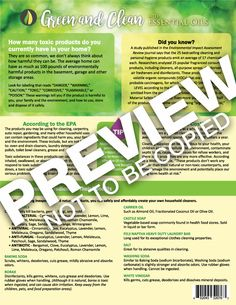 Green and Clean with Essential Oils Tear Sheet Pads