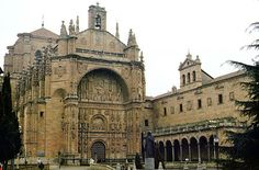 """Iglesia de San Esteban . work on the St. Stephen""""s Convent was begun in 1524 under the direction of the Renaissance architect Juan de Alava. The church is essentially Gothic in style , although its facade is ostentatiously Renaissance."""