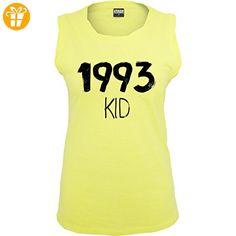 Geburtstag - 1993 KID - L - Neon Gelb - TB702 - ärmelloses Damen T-Shirt mit Brusttasche - Shirts zum geburtstag (*Partner-Link)