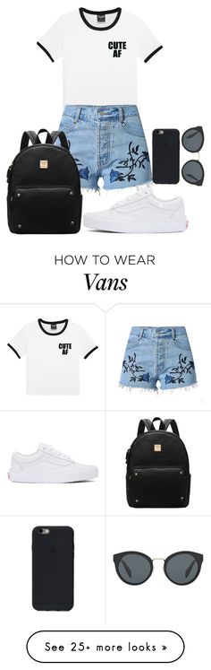 """""""cute afff"""" by camiiigonzalez on Polyvore featuring Prada and Vans"""