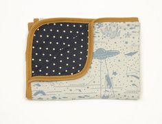 reversible blanket - sky blue sea & sky