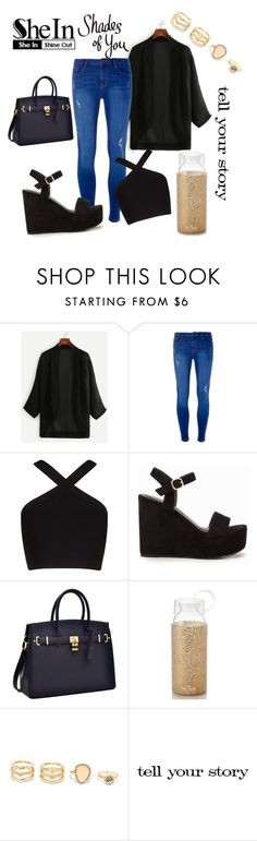 """My Blackened Heart"" by rosiecheeksandfreckles ❤ liked on Polyvore featuring Dorothy Perkins, BCBGMAXAZRIA, Nly Shoes, Kate Spade, LULUS and Tim Holtz"