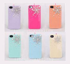 iPhone 4 Case, iPhone 4s Case, iPhone 5 Case, Cute iphone 4 case, case iphone 4, cute iphone 5 case snowflakes, best iphone 4 case g, $9.98