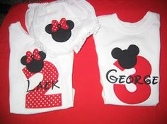 Girls or Boys Mickey Mouse or Minnie Mouse Shirt Tee Onesie Bodysuit Personalized via Etsy