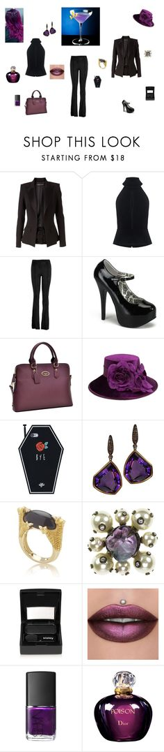 """""""Cocktails Anyone?"""" by browncoat4ever ❤ liked on Polyvore featuring Alexandre Vauthier, C/MEO COLLECTIVE, Hale Bob, Dasein, August Hat, Plukka, Chanel, Sisley, NARS Cosmetics and Christian Dior"""