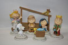 hallmark peanuts collectibles | Hallmark 2012 Peanuts Gallery Nativity Collection Set of 7 Figurines