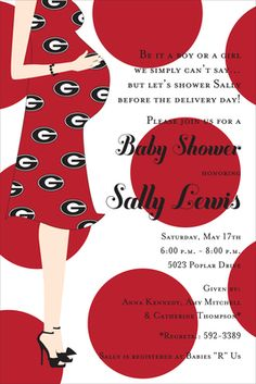 University of Georgia Bulldog Baby Shower Invitations THIS ONE FOR ME PLEASE....just not now