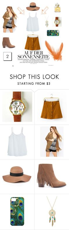 Brown outfit by hanafitrihanifah on Polyvore featuring Vero Moda, MANGO, Chicsense, Forever 21, Reiss and Marc Jacobs