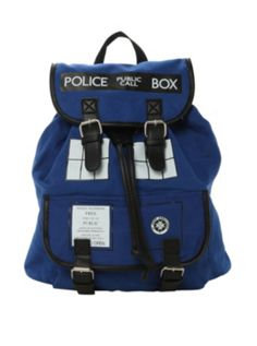 Doctor Who TARDIS Slouch Backpack | NO IDEA WHEN IT IS COMING BACK IN STOCK BUT WHEN IT DOES I AM BUYING ONE!!!!