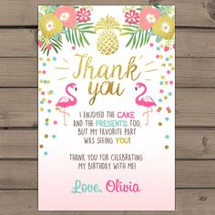 A beautiful way to thank your guests! You will receive ready-to-print files!  ♥…