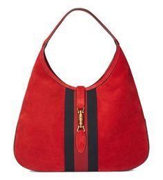 Gucci Jackie Soft Suede Hobo Shoulder Bag 362968 6473 Red