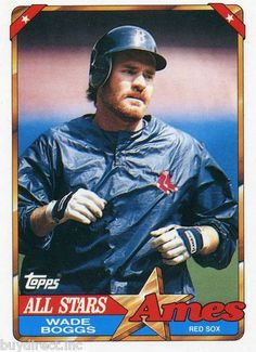 RARE 1990 TOPPS AMES ALL STARS WADE BOGGS NEW YORK YANKEES