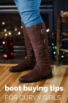 Boot season is here! Here are some tips for curvy girls to help find boots that fit. #spon