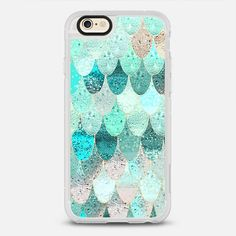 SUMMER MERMAID - protective iPhone 6 phone case in Clear and Clear by  @monikastrigel