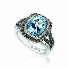 Le Vian 2.00 Carat Aquamarine Ring in 14kt White Gold with 0.75 Carats White and Chocolate Diamonds --- http://www.amazon.com/Le-Vian-Aquamarine-Chocolate-Diamonds/dp/B009VLHUUW/?tag=itacali-20