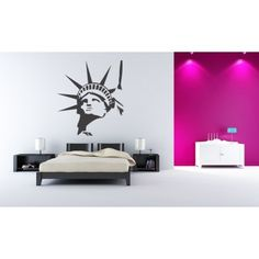 Statue of Liberty Head New York Wall Stickers Wall Art Decal - People & Places