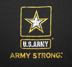 """UNITED STATES ARMY """"ARMY STRONG"""" T-SHIRT Adult XL Black Made In The USA"""