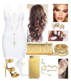 """elegant gold"" by stylin4u ❤ liked on Polyvore featuring Rebecca Minkoff, ABS by Allen Schwartz, Vero Moda, Mia Limited Edition, Kenzo, Casetify, Charlotte Tilbury, Topshop, Otis Jaxon and House of Harlow 1960"